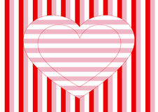 Heart, horizontal and vertical stripes Stock Photos