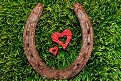 Heart and Horseshoe Royalty Free Stock Images