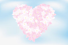 Heart of hortensia flowers Royalty Free Stock Image