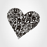 Heart the house Royalty Free Stock Photography