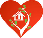 Heart house. Hand drawn heart house Vector Stock Photography