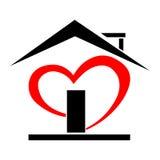 Heart house. Icon,logo  illustration isolated on white background Stock Photos