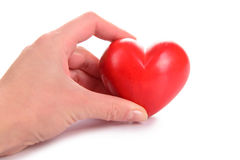 Heart in human hand Royalty Free Stock Image