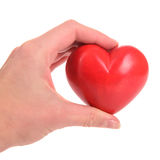 Heart in human hand Stock Image