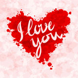 Heart, i love you, colorful paint splash Royalty Free Stock Image