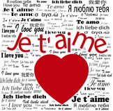 Heart   I love you in languages Stock Images