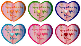 Heart I love you Mom and Happy Mothers Day Royalty Free Stock Photography
