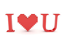 Heart and i love you text. Stock Photos