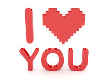 Heart and i love you text. Royalty Free Stock Photo