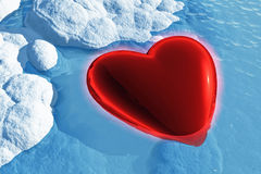 Heart in Ice Royalty Free Stock Photo