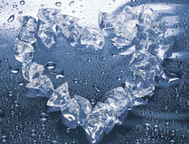 Heart from ice Stock Image