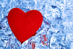 Heart on ice Royalty Free Stock Images
