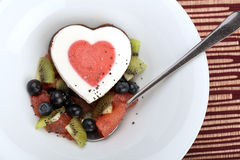 Heart ice cream Royalty Free Stock Image