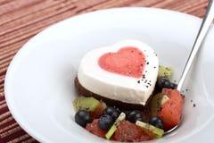 Heart ice cream Stock Photos