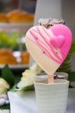Heart ice cream Stock Photography