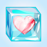 Heart in ice Royalty Free Stock Images