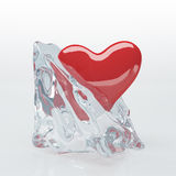 Heart in Ice Cube Stock Photography
