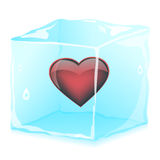 Heart in ice cubes Stock Photo