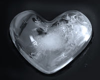 Heart,ice cubes Royalty Free Stock Photos