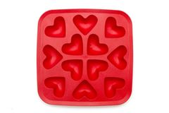 Heart ice moulds Royalty Free Stock Photography