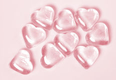 Heart ice pink. Heart-shaped ice in pink Royalty Free Stock Photo