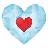 Heart in Ice Polygonal Style Stock Images