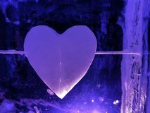 Heart of ice Royalty Free Stock Photos