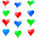Heart Icon. Colorful icons on Valentine day Royalty Free Stock Photos