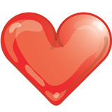 Heart icon. Stylized heart icon or symbol Royalty Free Stock Photos