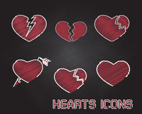 Heart Icon On Black Board Stock Photography
