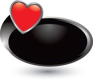 Heart icon on black swoosh Royalty Free Stock Photography
