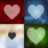 Heart icon on blurred background Royalty Free Stock Photo