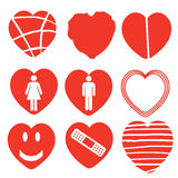 Heart icon collection Stock Images