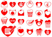 Heart icon collection - business and office Stock Images
