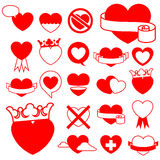 Heart icon collection - design elements Stock Image