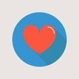Heart Icon concept love relationship valentines Royalty Free Stock Image
