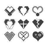 Heart icon design Stock Photo