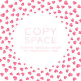 Heart icon flat color design pattern circle shape pink color. Isolated on white color background, with copy space center royalty free illustration