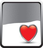 Heart icon on gray halftone banner template Stock Photo