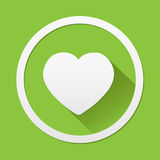 Heart icon great for any use. Vector EPS10. Royalty Free Stock Images