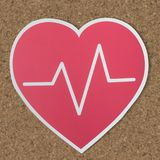 Heart icon for healthy concept Royalty Free Stock Photography