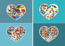 Heart Icon and Hearts symbol Royalty Free Stock Photos