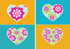 Heart Icon and Hearts symbol lines abstract idea design Royalty Free Stock Images