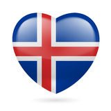 Heart icon of Iceland Stock Photography