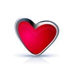 Heart icon illustration. On white Stock Photo