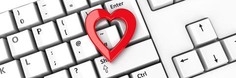 Heart icon on keyboard #2 Royalty Free Stock Photos