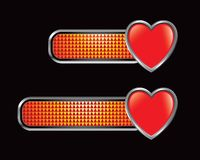 Heart icon on orange checkered tabs Royalty Free Stock Photography