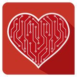 Heart  icon PCB Love Stock Photos