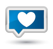 Heart icon prime blue banner button Stock Photography