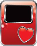 Heart icon on red halftone advertisement Royalty Free Stock Image